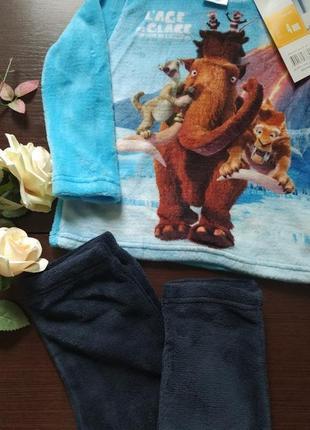Новая махровая пижама домашний костюм дисней disney