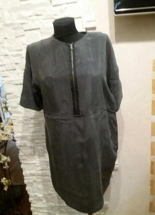 Cos  стильное  платье. 100 шелк