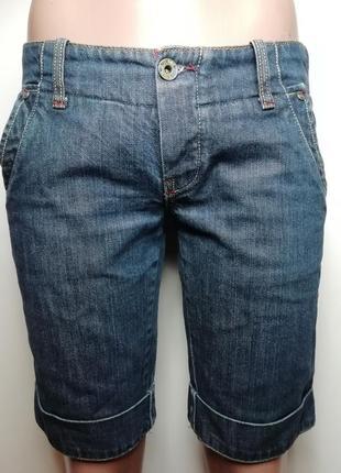 Фирменные шорты бриджи натуральный джинс