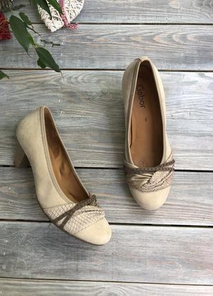 Gabor замшевые туфли на удобном каблуке