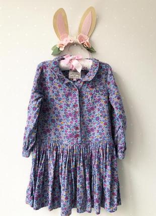 Платье в цветочек, m&s, 2-3г