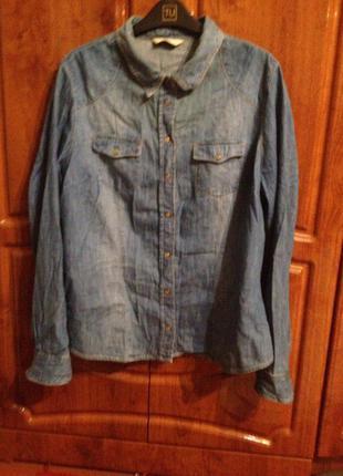 Надзвичайно стильна джинсова сорочка f&f