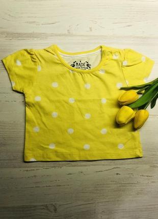 Ярка футболка в горошек на девочку 3-6 месяцев