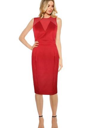 Брендовое вечернее красное платье annascholz xxl