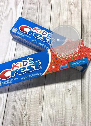 Детская зубная паста kid's crest
