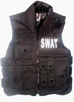 Жилет маскарадный weste swat детский как настоящий германия