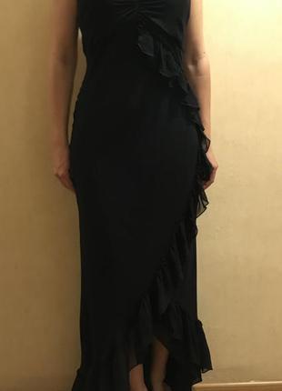 Вечернее платье из струящегося шёлка в пол/ на новый год/новогоднее/ на корпоратив  12/м