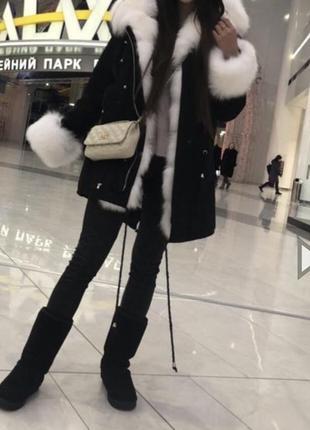 Парка,куртка с  натуральным мехом3 фото