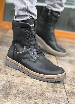 Ботинки кожаные зимние diesel brave