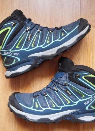 Ботинки salomon gore-tex зимние треккинговые