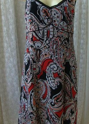 Платье женское летнее легкое сарафан бренд gerry weber р. 46-48 2715а