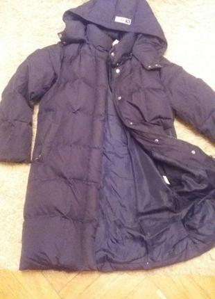 Фирменное толстое пуховое пальто с капюшоном. (ex10, австрия)