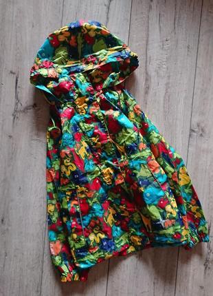 Куртка дождевик яркий принт животные mountain warehouse 5-6 лет