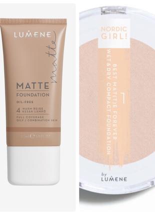 Тональный крем и многофункциональная пудра, lumene