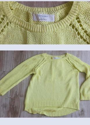 Вязаный свитер zara
