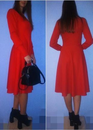 Aкция выходного дня!миди платье красного цвета!о покупке не пожелеете!