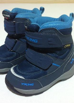 Зимние ❄️ сапоги ,ботинки viking ❄️с мембраной gore-tex р.23 -24(15 см) оригинал ❗❗❗