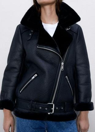 Байкерская куртка zara