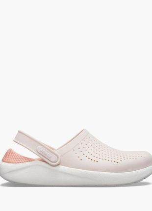 Сабо crocs literide  barely pink/white4 фото