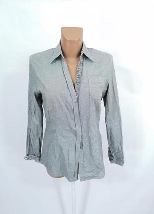 Рубашка стильная s.oliver, серая