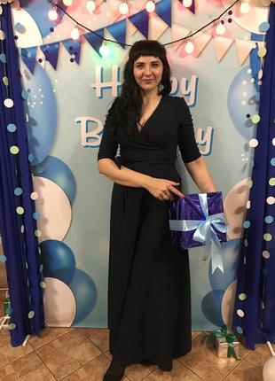 Очень красивое синее платье в пол