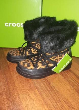 Зимние сапоги crocs 36/37 38/39