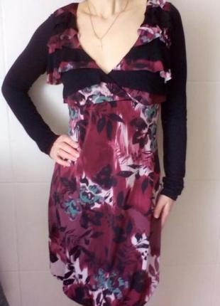 Платье бордовое демисезонное с-м