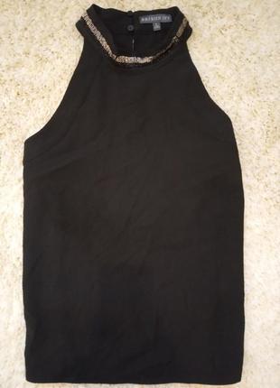 Нарядная блуза майка с бисером