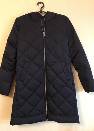 Стильное классика стёганное пальто пуховое зимнее куртка