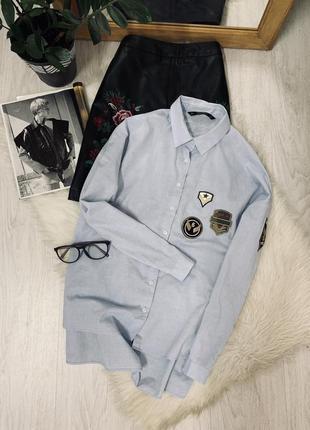 Котонова рубашка від zara🖤🖤🖤
