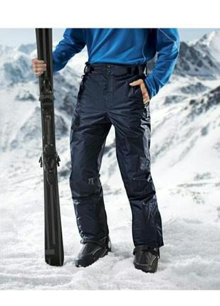 Зимние лыжные мужские термоштаны на тинсулейте crivit размер 52