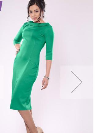 Изумительное платье цвета весенней зелени