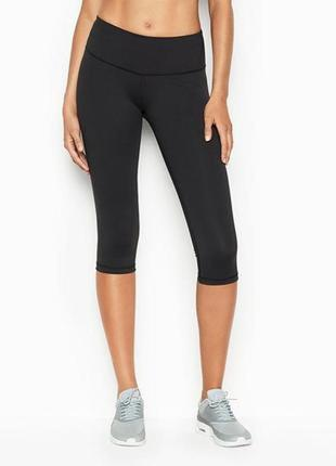 Капри лосины леггинсы knockout by victoria sport crop in black💖s