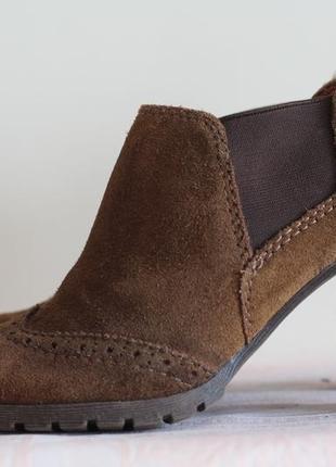 Роскошные ботинки, ботильоны 5th avenue 38 натуральная замша