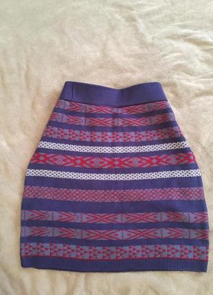 Зимняя юбка на резинке