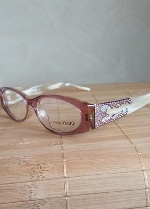 Оригинальная оправа под линзы,очки женские с камнями swarovski оригинал g.ferre gf36103