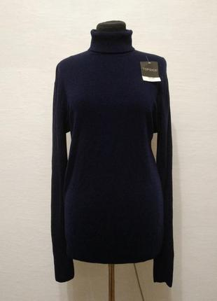 Стильный теплый шерстяной свитер большого размера