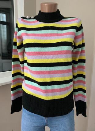 Полосатый свитер с шерстью