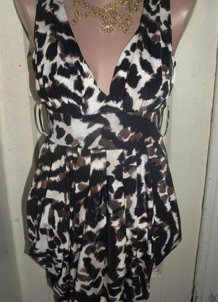 Обалденное платье  леопардовый принт!