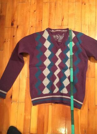 Пуловер фиолетовый с узором alcott италия кофта