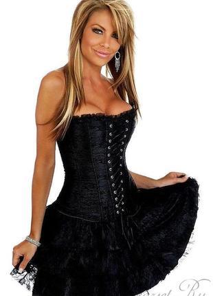 Женское платье корсет для большой леди