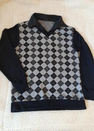Рубашка с жилетом обманка
