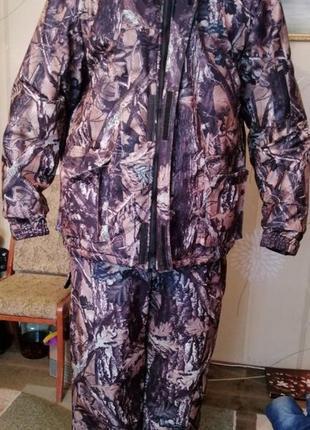 Костюм зимний куртка полукомбинезон рыбалка охота р. 60