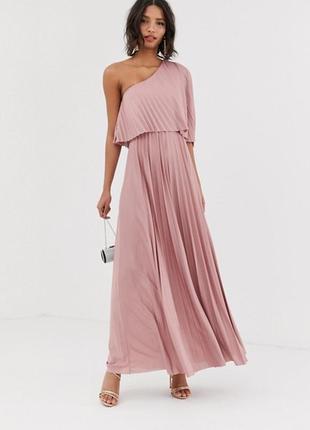 Плисерованное платье в пол asos,размер 6
