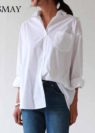 "Белая рубашка в стиле ""оаерсайз""🔥"