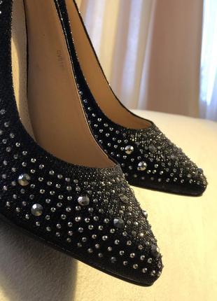 Бесподобные черные туфли лодочки /акционная цена6 фото