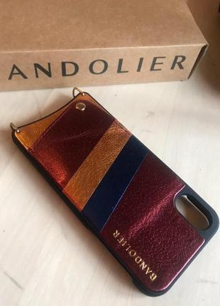 Bandolier/ бандольер новый кожаный чехол на iphone x/xs. на длинном и коротком ремешке