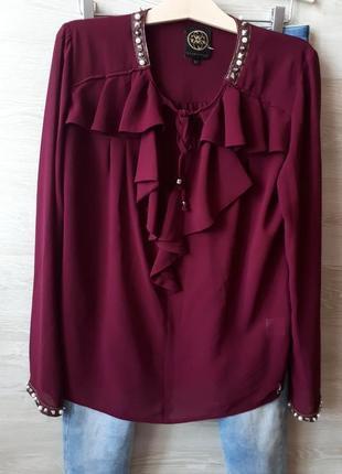 Вишневая блуза glamours
