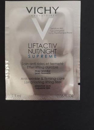 Vichy liftactiv night global anti-wrinkle and firming care.