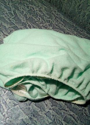Детская простынь на резинке махровая. 120/60